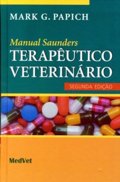Livro Manual Saunders TARAPÊUTICO VETERINÁRIO