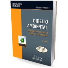 Livro Direito Ambiental Questões de Concursos Públicos Comentadas